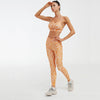 New 2 Piece Set Bra+Pants Women Sports Suit -Orange