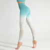 Women Seamless Gradient Gym Leggings -Green