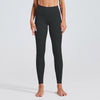 High Waist Fitness Leggings Solid Color -Black