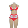 Sexy Push Up Bikini High Waist Swimsuit - Red