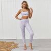 New 2 Piece Set Bra+Pants Women Sports Suit -Gray
