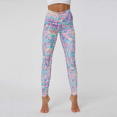 Women Colorful Printing Leggings