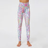 High Waist Flower Print Workout Leggings