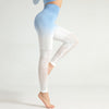 Women Seamless Gradient Gym Leggings -Blue