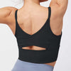 Mesh Back Cross Sexy Workout Bra -Black