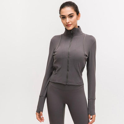 Women Fitness Sport Jacket-Gray