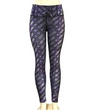 Workout Push Up Printed Leggings - Purple