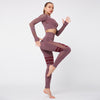 Gym Mesh Breathable Seamless Sets -Wine Red