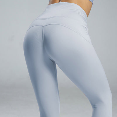 High Waist Sport Leggings Yoga Pants -Blue