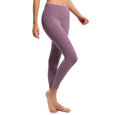 Soft High Waist Yoga Pants -Purple