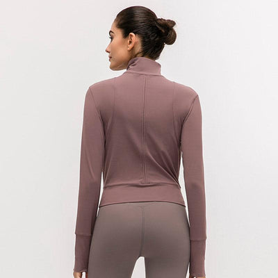 Women Fitness Sport Jacket-Feather Ash