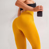 High Waist Seamless Workout Leggings -Yellow