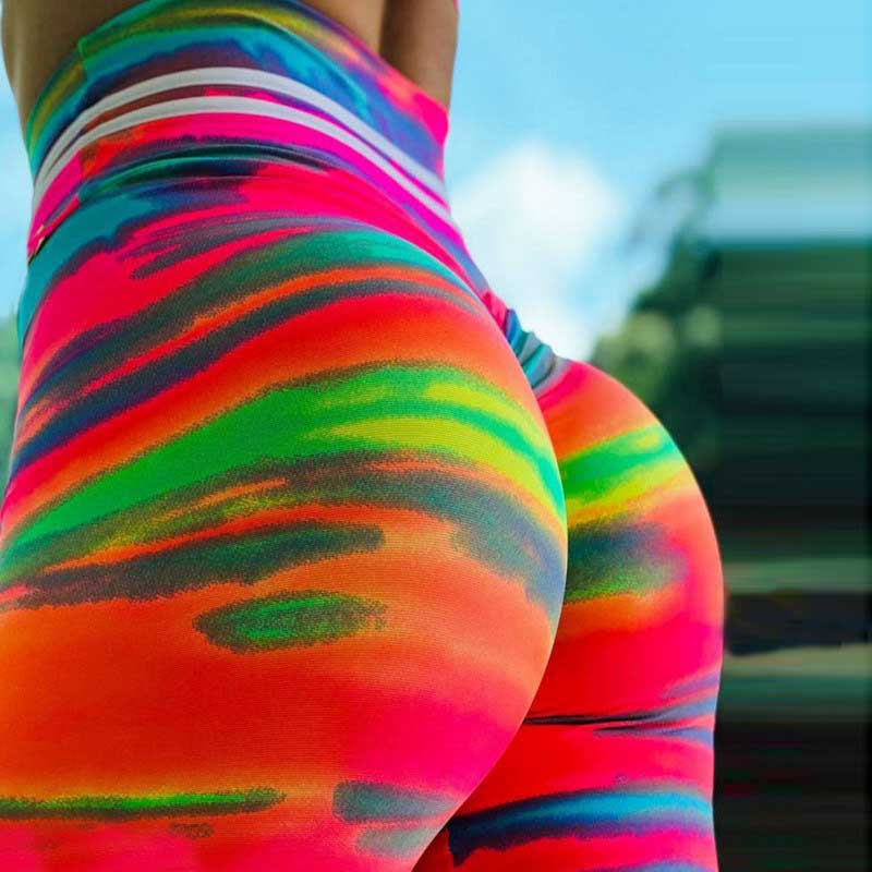 Women Printed Fitness Leggings -Multicolor