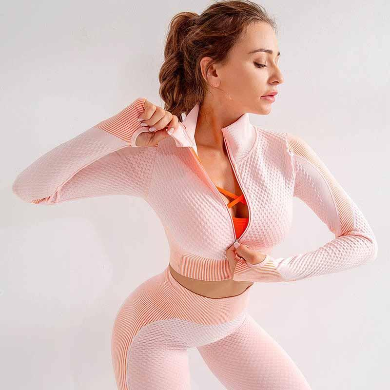 Women Fitness Set 2 Pieces Set Sports Suits