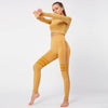 Gym Mesh Breathable Seamless Sets -Yellow