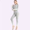 Women's Seamless Clothing Long Sleeve -White