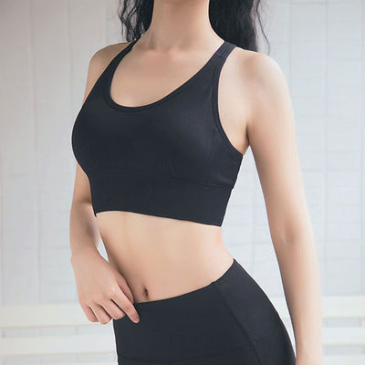 Fitness Yoga Bra Sports Underwear -Black