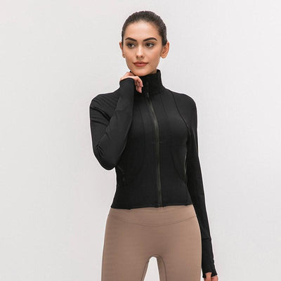 Women Fitness Sport Jacket-Black