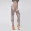High Waist Sport Wear Seamless Leggings -Brown