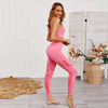 Women Seamless Bra Leggings 2 Pieces Set -Pink