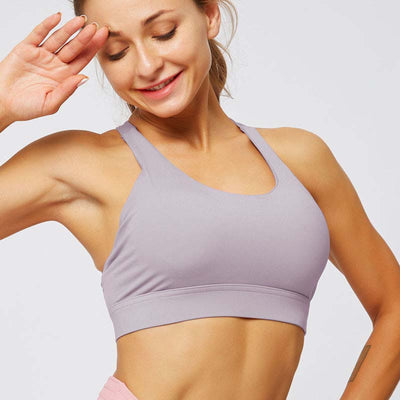 Women Cross Sports Bra Fitness Tops -Purple