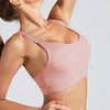 Cross Strap Back Sports Bra Top -Pink