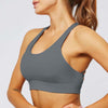 Women Cross Sports Bra Fitness Tops -Gray