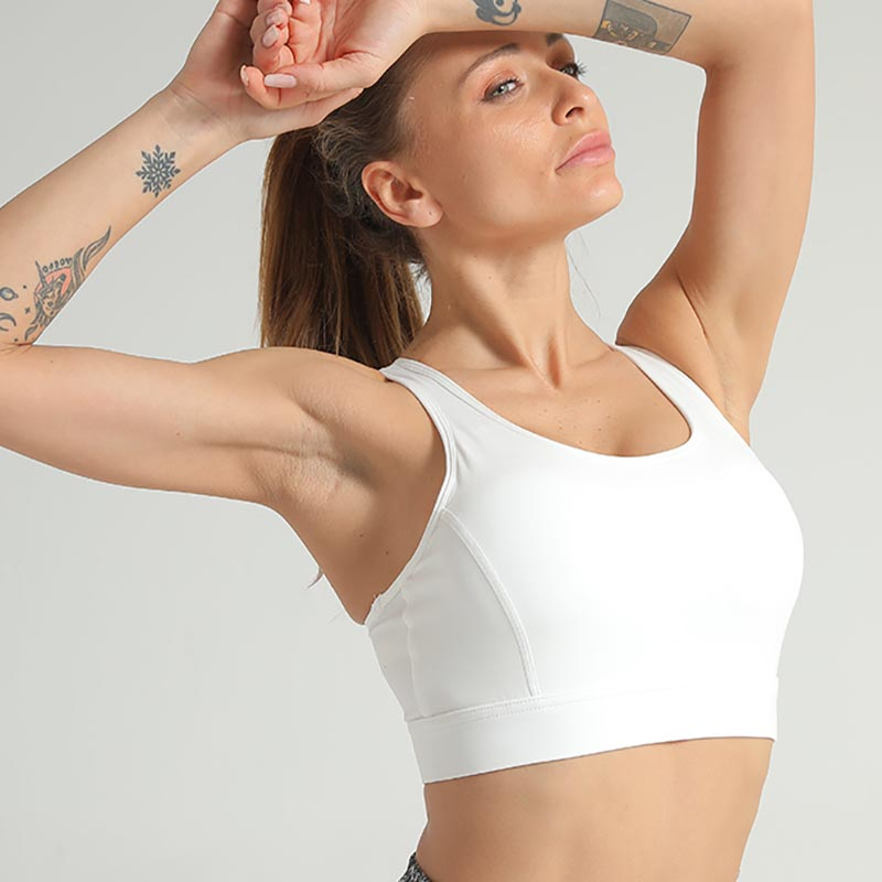 Women Breathable Sports Bra -Gray