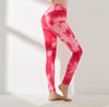 High Waist Push Up Leggings Multicolor - Red