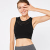 Women Tank Top Hollow Sports Bra -Black