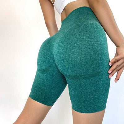 Women Seamless Gym Shorts -Green