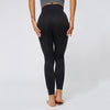 High Waist Sport Wear Seamless Leggings -black