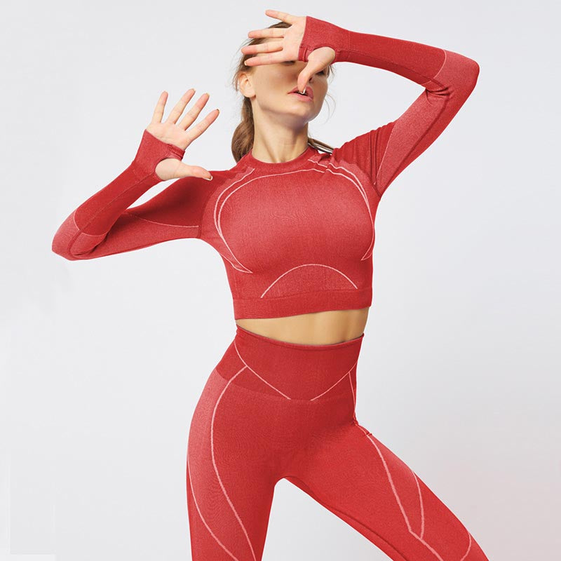 New Fitness Seamless Set Women Tracksuit