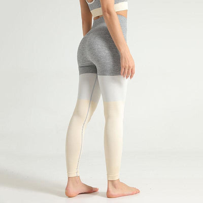 Women Seamless Leggings Push Up Pants-Yellow