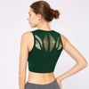 Women Tank Top Hollow Sports Bra -Green