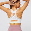 Mesh Breathable Sports Bra Tops- White