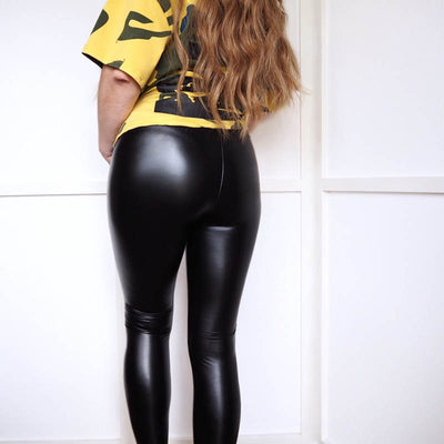 Black PU Leather Pants Skinny Leggings