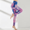 High Waist Push Up Leggings Multicolor - Purple