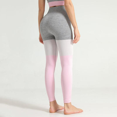Women Seamless Leggings Push Up Pants-Pink