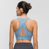 Women High Impact Fitness Sports Bra -Blue