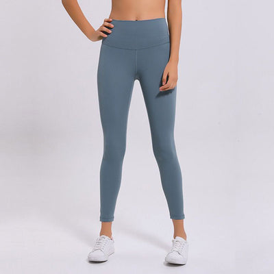Soft High Waist Yoga Pants -Blue