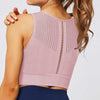 Women Hollow Seamless Push Up Bra -Pink