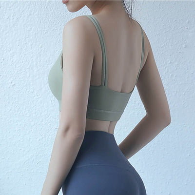 Double Shoulder Strap Yoga Sports Bra