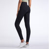High Waist Pants Bow Tie Leggings -Black