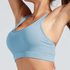 Workout High Elastic Bra Tops With Pocket-Blue