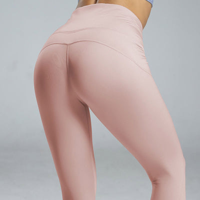 High Waist Sport Leggings Yoga Pants -Pink