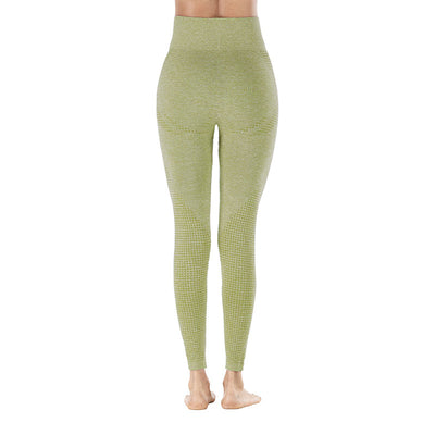 Workout Sporting Seamless Leggings - Army Green