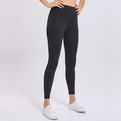 Soft High Waist Yoga Pants -Black