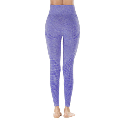 Yoga Sporting Seamless Leggings - Purple