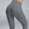 High Waist Sport Leggings Yoga Pants -Gray